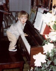 I learned to play the piano at age 9, but apparently wanted to learn earlier
